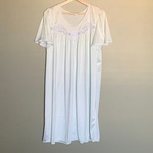 Vintage French Maid flutter sleeve nightgown sz M